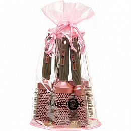 Pink Head Jog Ceramic Brush Set