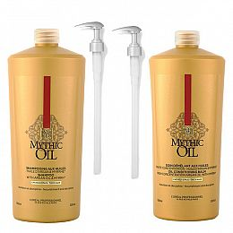 L'Oreal Mythic Oil Shampoo & Conditioner plus Pumps
