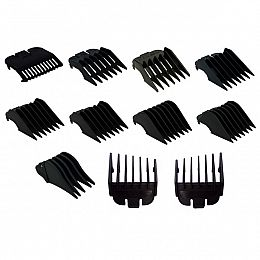 Wahl Black Plastic Backed Clipper Heads - All sizes (1-12)
